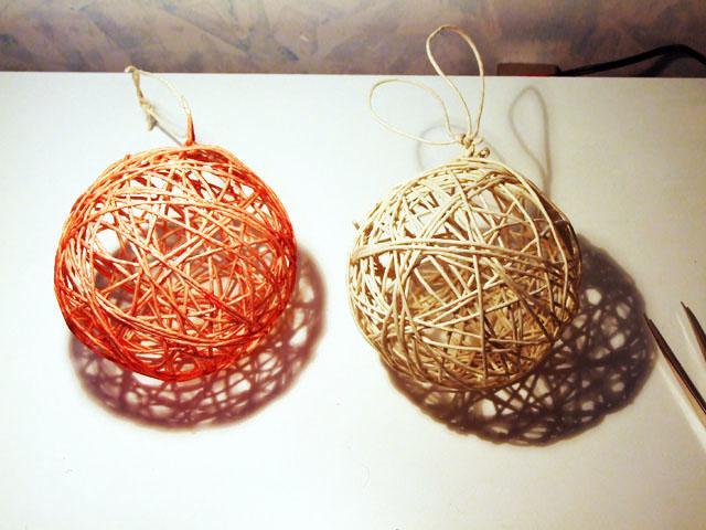 Palline di corda ... per l'albero di Natale